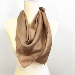 Vintage Vera Neumann • Silk Geometric Bronze Scarf